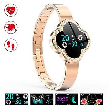OOLIFENG Montre Connectée avec Tensiomètre, Bracelet Intelligent Podomètre étanche IP67 Montre Cardiofréquencemètre pour iPhone Android