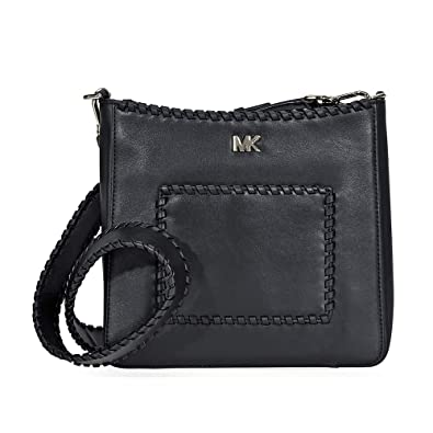 238d2d89f7ca Amazon.com: Michael Kors Gloria Whipstitched Leather Messenger Bag ...