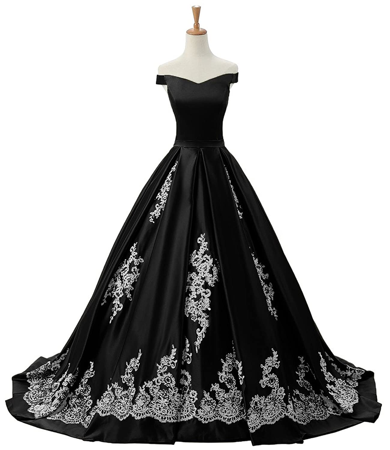 Sunvary Women\'s Evening Prom Dresses Ball Gown Off-The-Shoulder ...