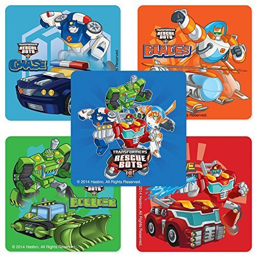 SmileMakers Transformers Rescue Bots Stickers - Birthday and Theme Party Supplies - 75 per Pack ()