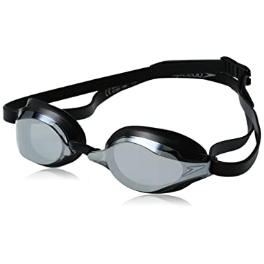 Speedo Speed Socket 2.0 Mirrored Swim Goggles, Curved, Anti-Glare, Anti-Fog with UV Protection