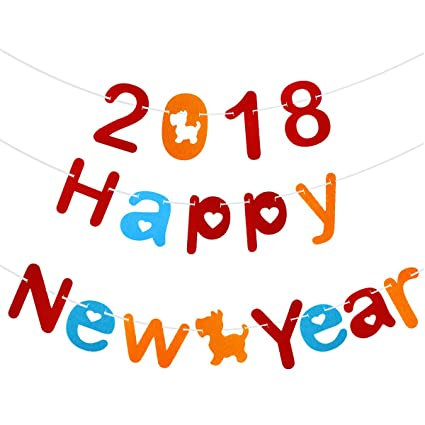 luoem 2018 happy new year banners party decorations streamer garland photo props for home party decor
