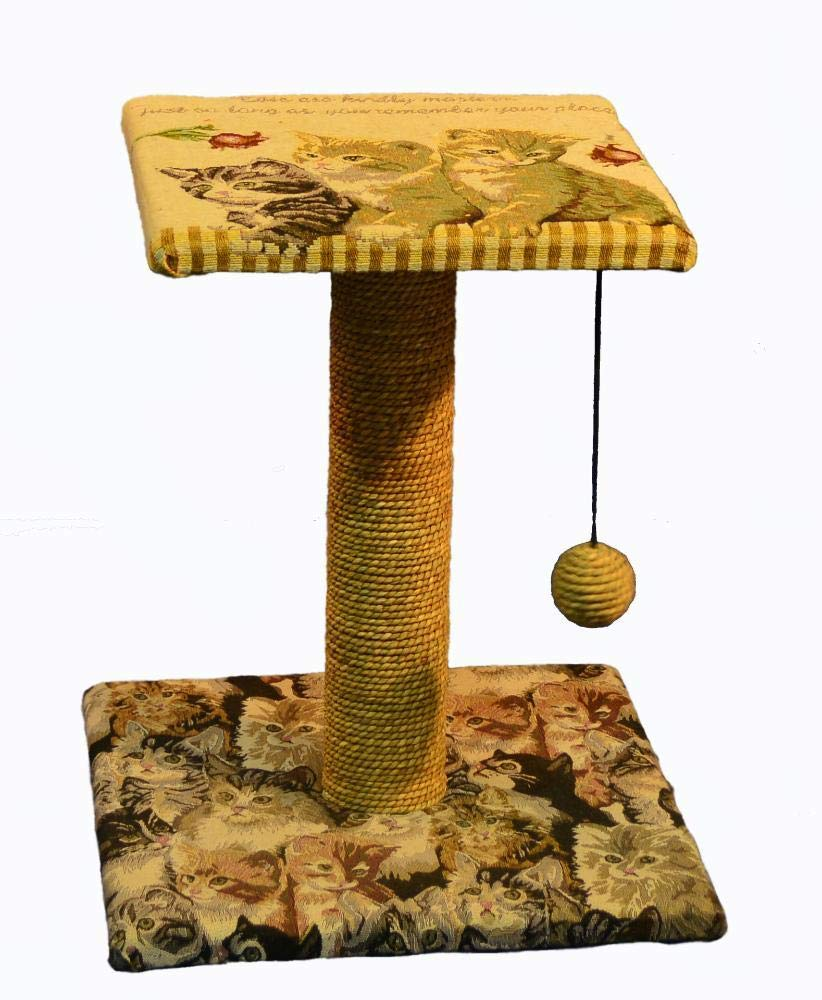 C Aoligei Cat Play Towers & Trees Station Cat Furniture cat Tree Classic printing 50  30  54cm Plush
