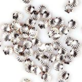 100pcs Silver Alloy Metal Shell Studs Beads 3mm For Nail Art Cellphone DIY Decoration Craft