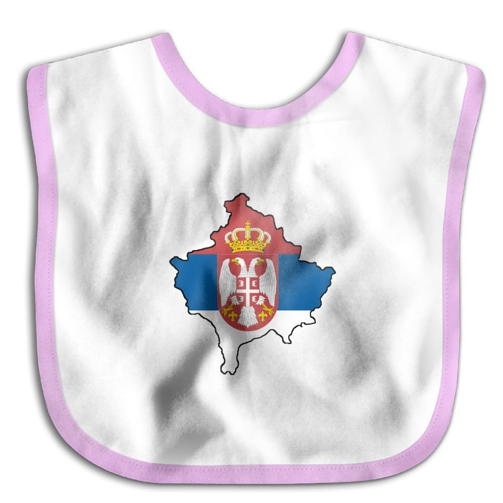 Marima Kosovo with Flag of Serbia Personalized Scarf Bib Feeding /& Teething Fancy Baby Bibs and Burp Cloth Polyester Cotton