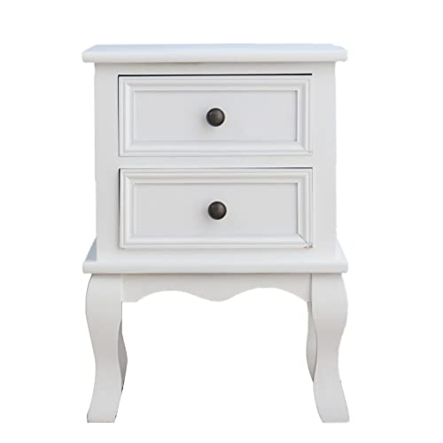 Cherrytree furniture wood white bedside table 2 drawers cabinet cherrytree furniture wood white bedside table 2 drawers cabinet white watchthetrailerfo