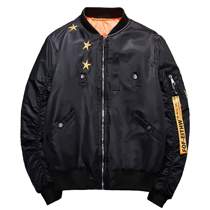Chaqueta De Bordado Classic Pilot Jacket Chaqueta De Béisbol De Manga Larga para  Hombre Locomotora De f55b252839d