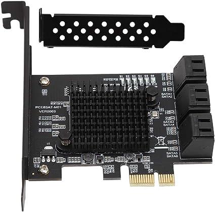 Amazon.com: Zopsc PCI-E - Tarjeta de expansión SATA (6 ...