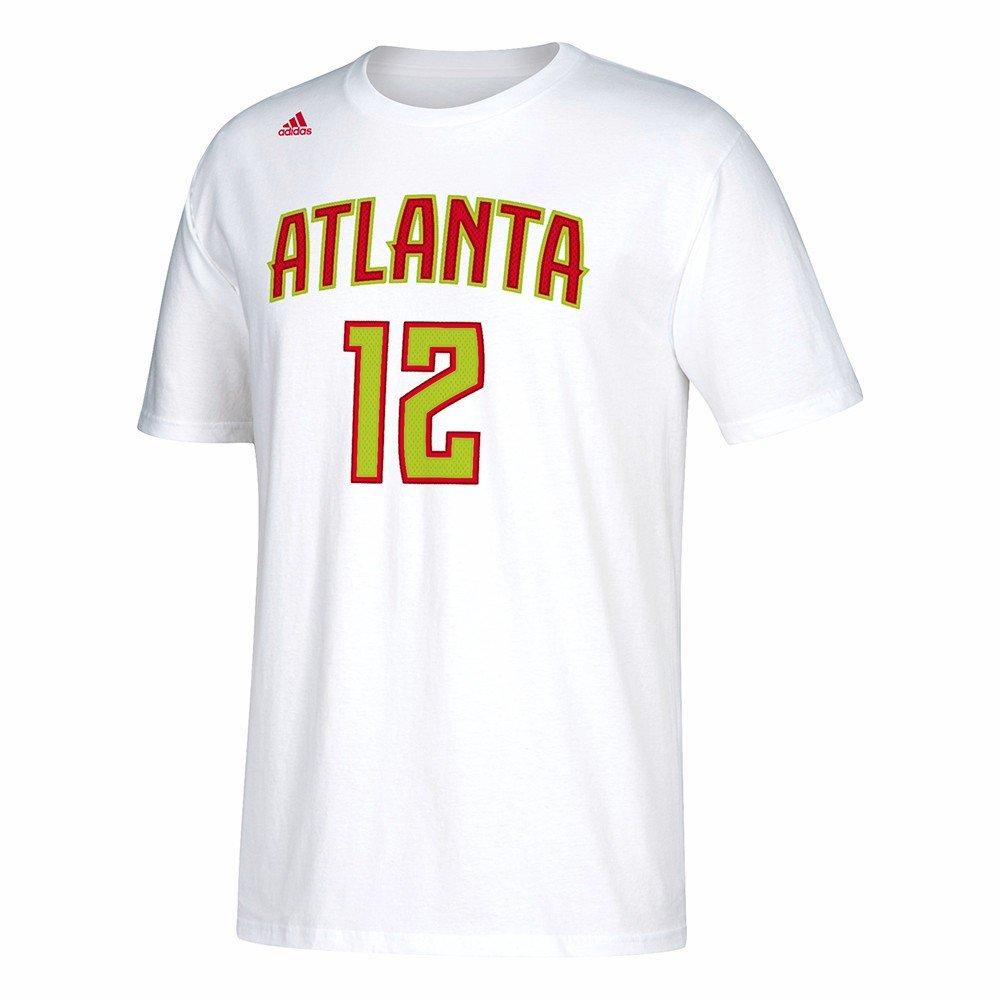 Adidas Taurean Prince Atlanta Hawks de la NBA Color Blanco Nombre y número Jugador Equipo de Jersey Color Camiseta de Manga Corta para Hombre, XL, ...