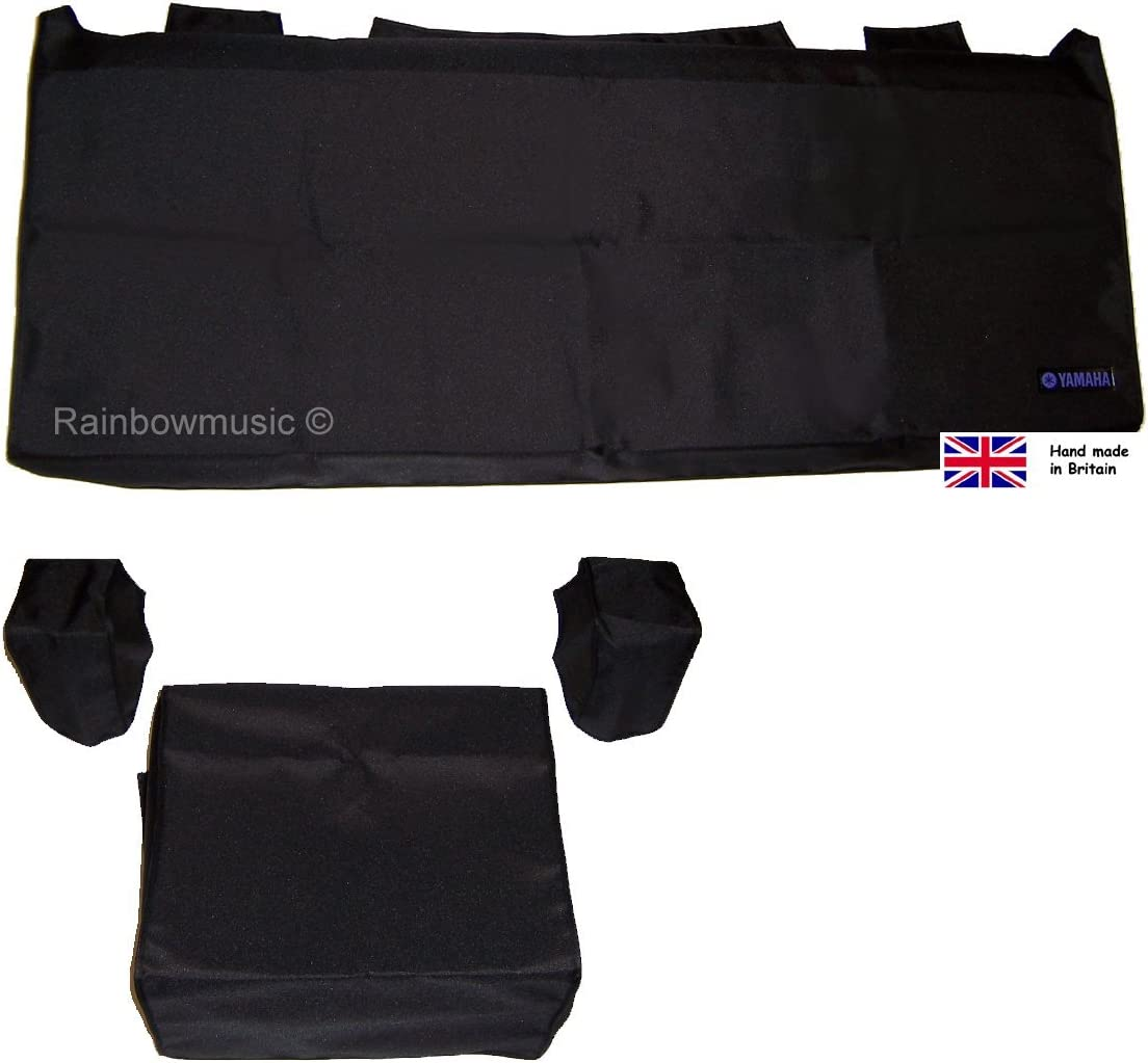 Deluxe Dust Cover Set para Yamaha Tyros 1, 2, 3, 4, 5 (61 teclas), color negro