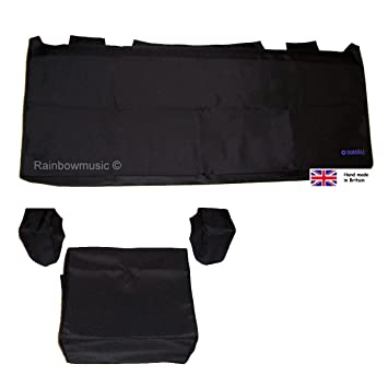 Deluxe Dust Cover Set para Yamaha Tyros 1, 2, 3, 4, 5 (61 teclas), color negro: Amazon.es: Instrumentos musicales