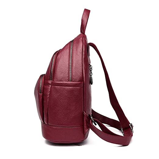 Amazon.com: Leather Backpacks Female Travel Large Capacity Backpack School Preppy Style Women Backpack Laptop Rusksacks Brown backpacks: Reanyst