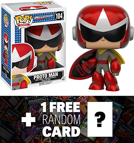 Proto Man: Funko POP! x Mega Man Vinyl Figure + 1 FREE Mega Man Trading Card Bundle - Men Maverick Free