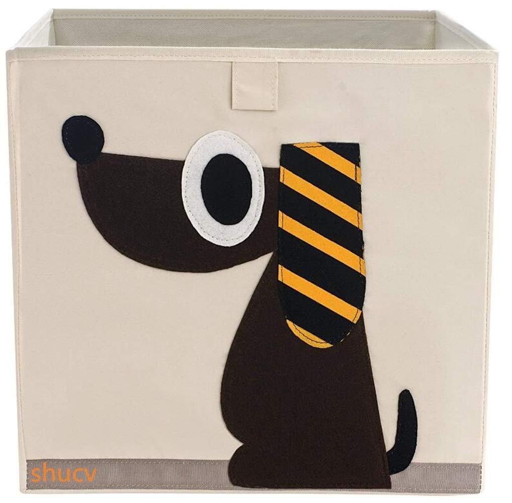 Aufbewahrungsbox und Organisator für Kinderspielzeug, Cartoon Aufbewahrungswürfel Leinwand faltbare Spielzeug Aufbewahrungsbox, 33 x 33 x 33cm SHUCV