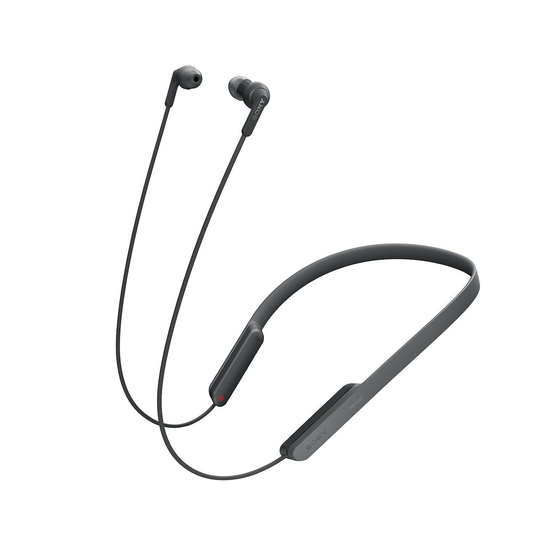 Sony MDR-XB70BT - Auriculares Bluetooth de contorno de cuello (EXTRA BASS, NFC, manos libres para Apple iPhone y Android, autonomía de 9 h), color negro: ...