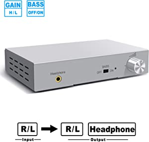 Oneme Headphone Amp and Preamp Small Desktop Preamplifier Designed to Have Low Distortion an Exceptionally Low Noise Floor and Switchable GAIN & BASS