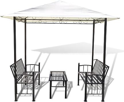 Anself jardín Arbor con capony, mesa y banco 8 x 5 x 8 : Amazon.es: Jardín