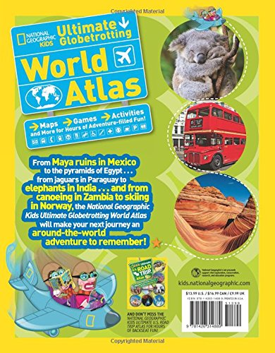 National geographic kids ultimate globetrotting world atlas maps national geographic kids ultimate globetrotting world atlas maps games activities and more for hours of adventure filled fun gumiabroncs Images