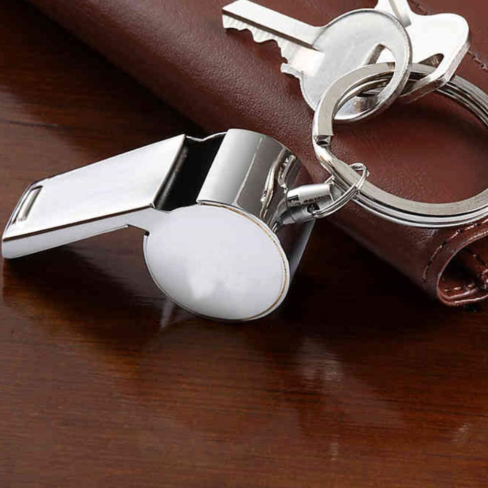 """2/"""" Metal Whistle Keychain 12 Pack of Loud Noisemaker Party Favors and Supplies Outdoor Novelty Sporting Events Game Accessories Loot Bag Ideal for Emergency"""