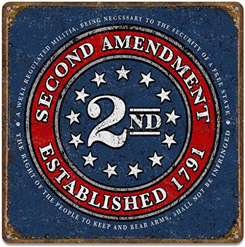 2nd Amendment Brand - Seal of 1791 - Vintage American Flag Tin Sign 12