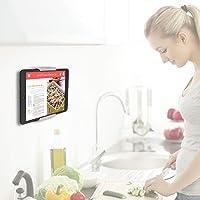 TFY - Soporte de Pared para Tablet y Smartphones, Compatible con Cocina, baño, recámara, Sala de Lectura y más, Color Blanco