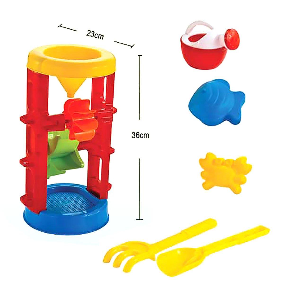 YA Juguetes de Playa para Niños Que juegan Juguetes acuáticos Juego de Coche Grande para Niños Pala Cubo Que Juega Herramientas de Dragado de Arena Juguetes de Baño (Color : A)