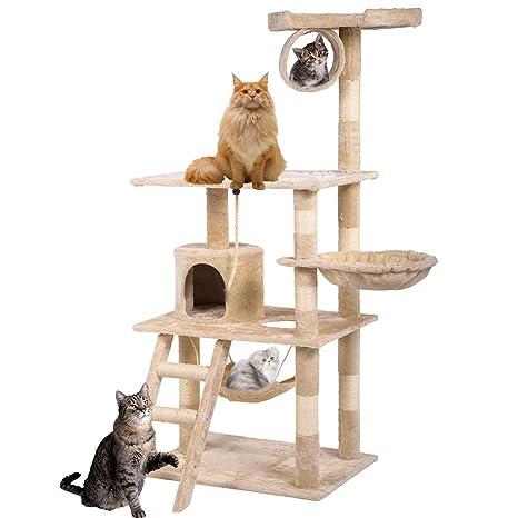 Amazon.com: BestPet Árbol de gato condo gato árbol gato ...