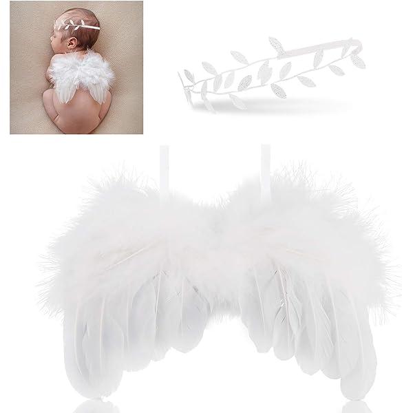 Hifot recien nacido fotografia kit, Bebe plumas ángel alas con ...