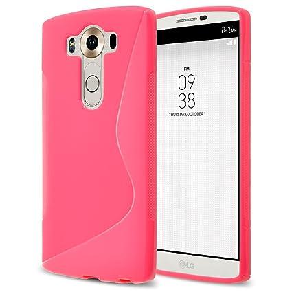 lowest price 86cd6 63f63 LG V10 Case,RANZ Pink Soft TPU Skin S Line Design Cover for LG V10/ LG  H961N/ LG H900/ LG VS990/ LG H901