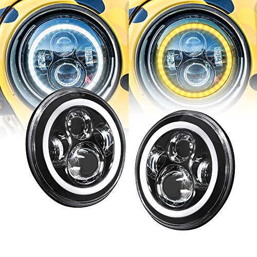 yellow 7 inch headlight - 1