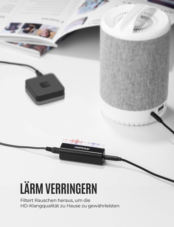 Mpow Ground Loop Noise Isolator f/ür Autoradio//Stereoanlage mit 3,5 mm Audiokabel
