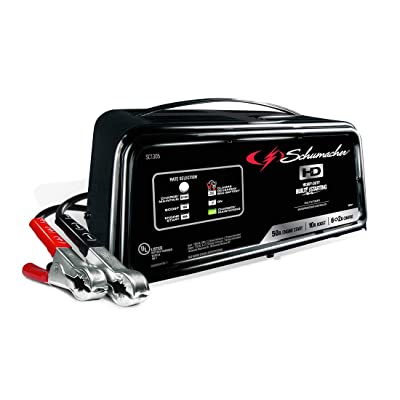 Schumacher SC1305 12V Fully Automatic Battery Charger and 10/50A Engine Starter: Automotive
