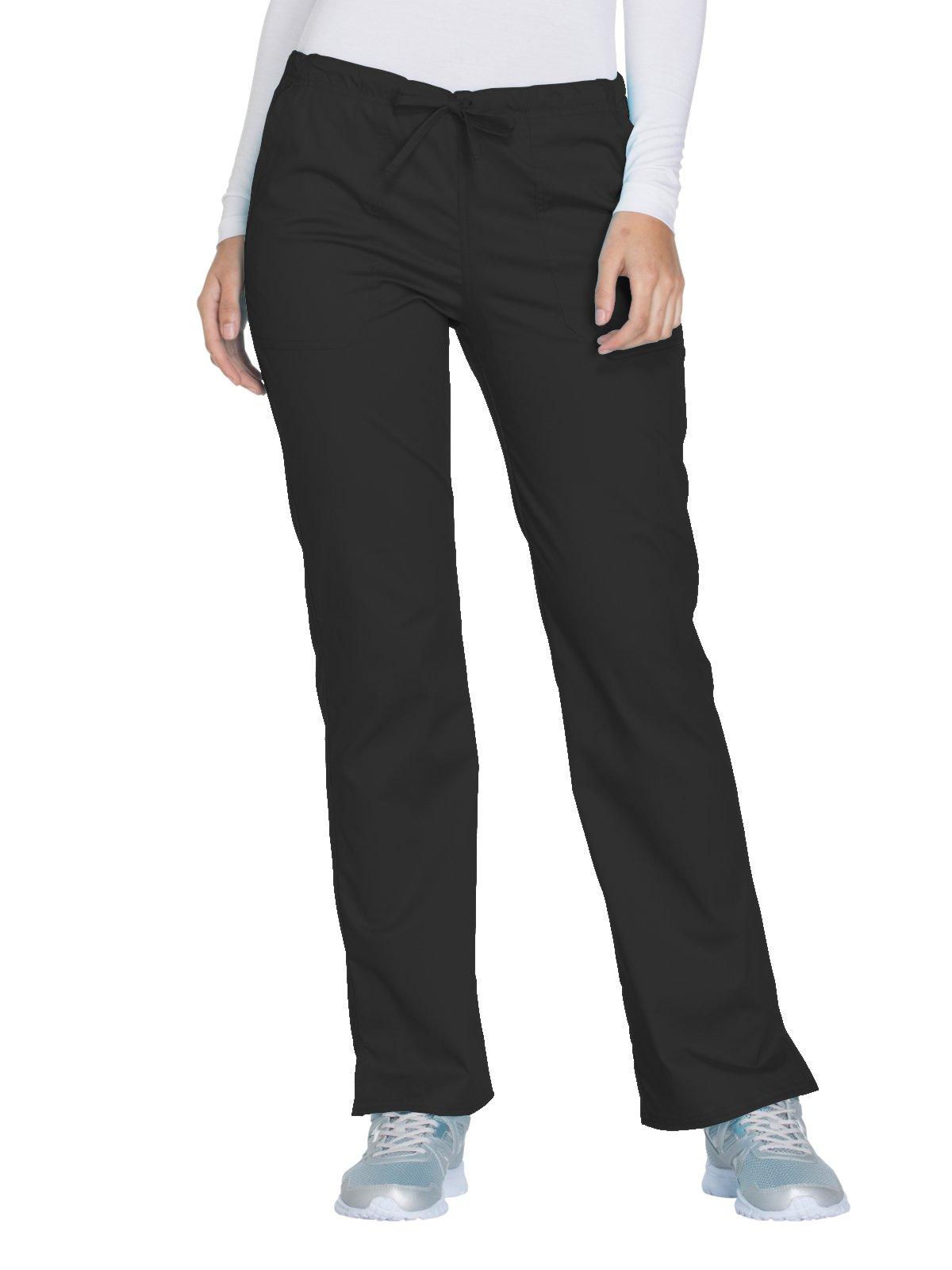 Cherokee Core Stretch by Workwear Women's Drawstring Scrub Pant Large Black