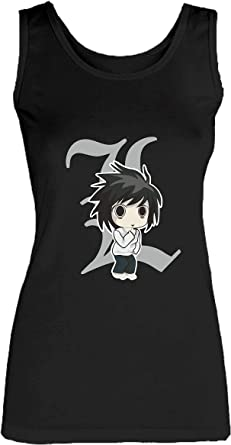 Social Crazy Camiseta de Tirantes para Mujer de algodón Basic Super Fit Top Calidad – Lawliet Death Note Modelo 2 – Novedad VIP Humor Divertidos Made in Italy Negro XL: Amazon.es: Ropa