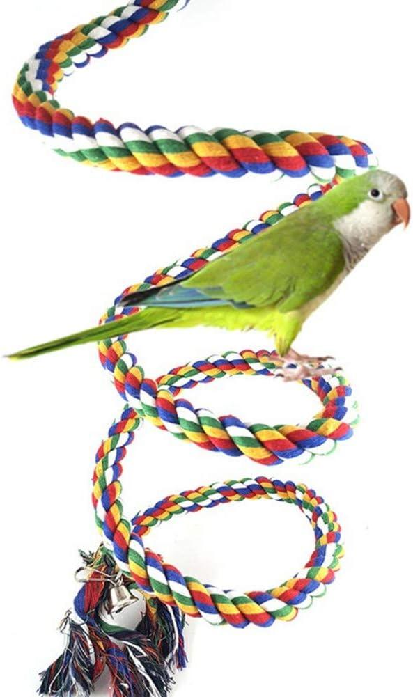 1 x toruiwa loros Swing Escalera loros Papagayos Juguetes de tejer cuerda de escalada con campana para pequeños loros y otros pequeños pájaros: Amazon.es: Productos para mascotas