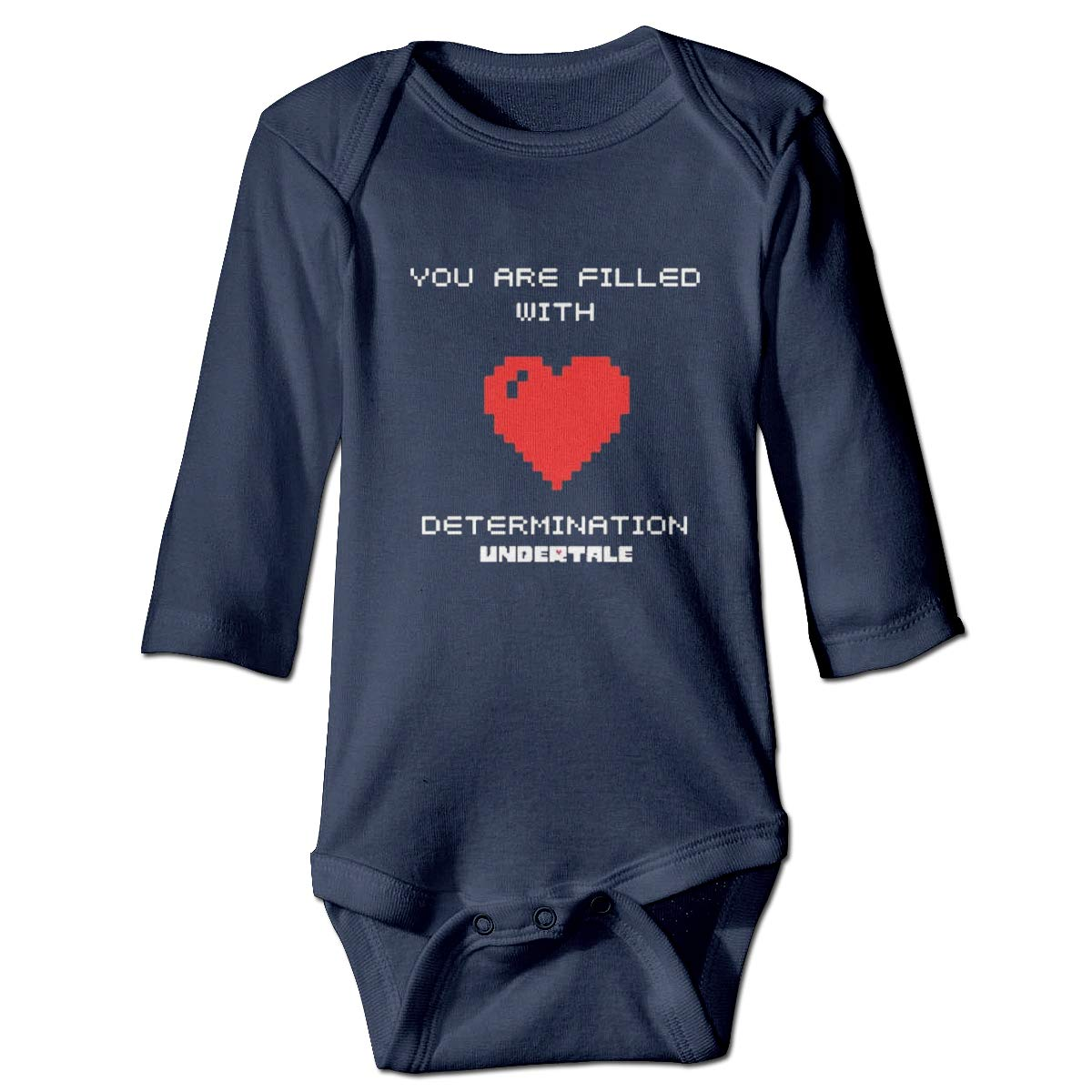 You are Filled with Determination Baby Long Sleeve Onesies Soft Romper Bodysuit Outfits