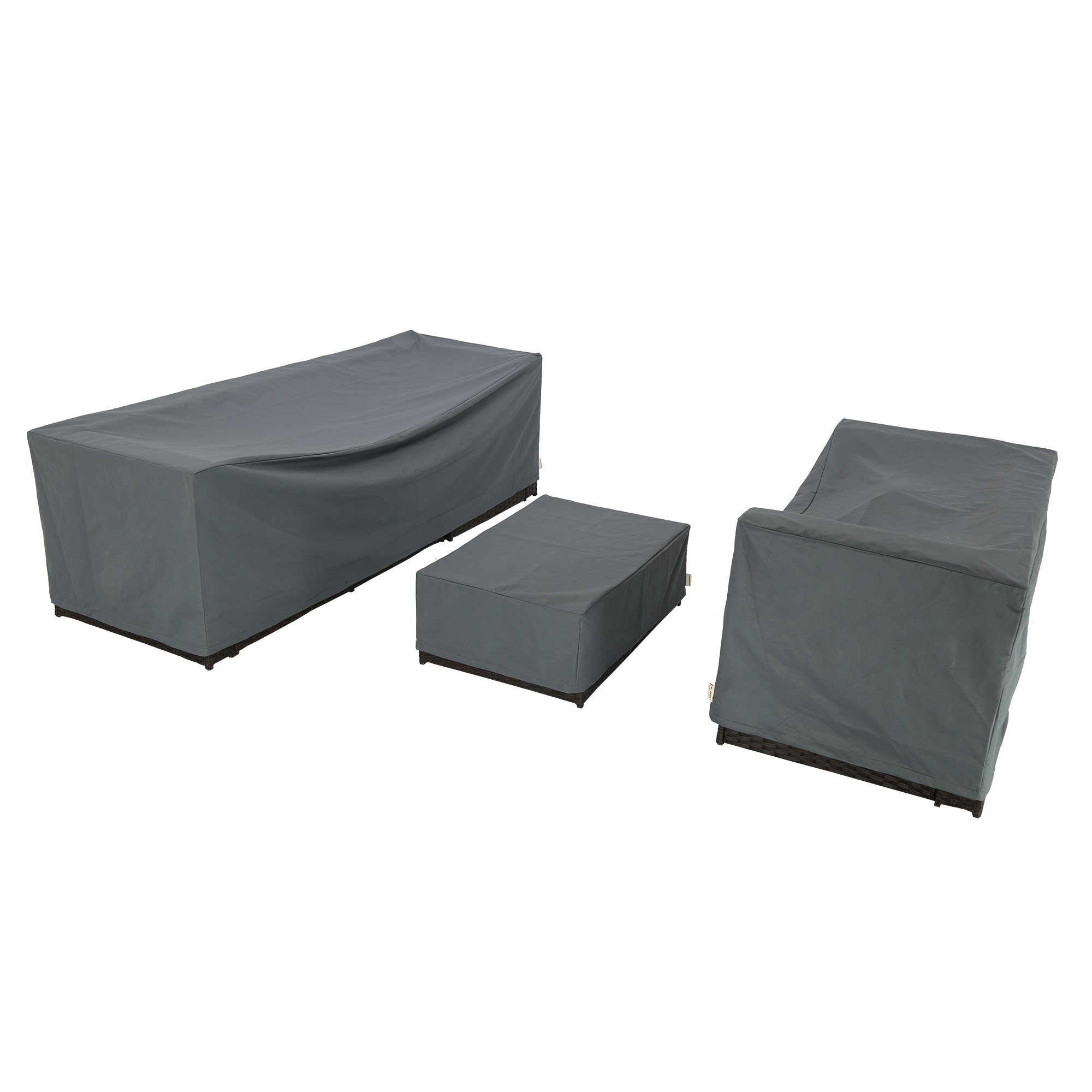 Baner Garden K35 3-Piece Outdoor Veranda Patio Garden Furniture Cover Set with Durable and Water Resistant Fabric