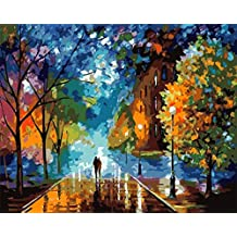 [ New Release, Wooden Framed or Not ] Diy Oil Painting by Numbers, Paint by Number Kits - Beautiful Life 16*20 inches - PBN Kit for Adults Girls Kids Christmas - D127