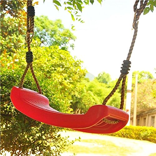mkool Premium Children Swing Seat Safe Easy To Install Backyard Accessory Heavy Duty Construction Vibrant Color For Kids Endless Hours Of Outdoor Fun?red