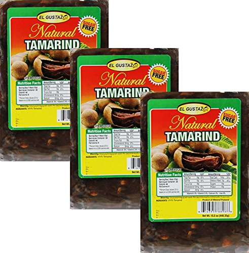 Tamarind Sugar Free Tamarindo pulp with seeds 15.5 oz Pack of 3