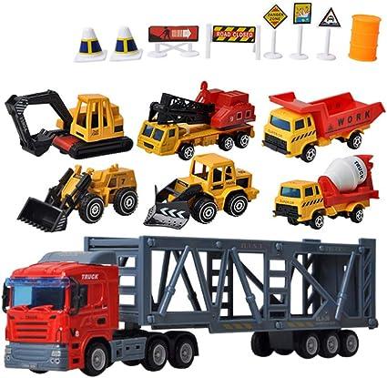 Mini Children Educational Fun Vehicle Diecast Sliding Car Engineering Model Toys
