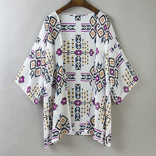 Gasa Estilo Kaftan Deley Cover Bikini Mujeres Kimono Chaqueta En N8Ok0PwnX