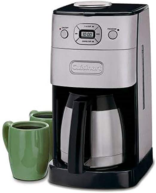 Amazon Com Cuisinart Dgb 650bcp1 Grind Brew 10 Cup Automatic Coffee Maker Black Kitchen Dining