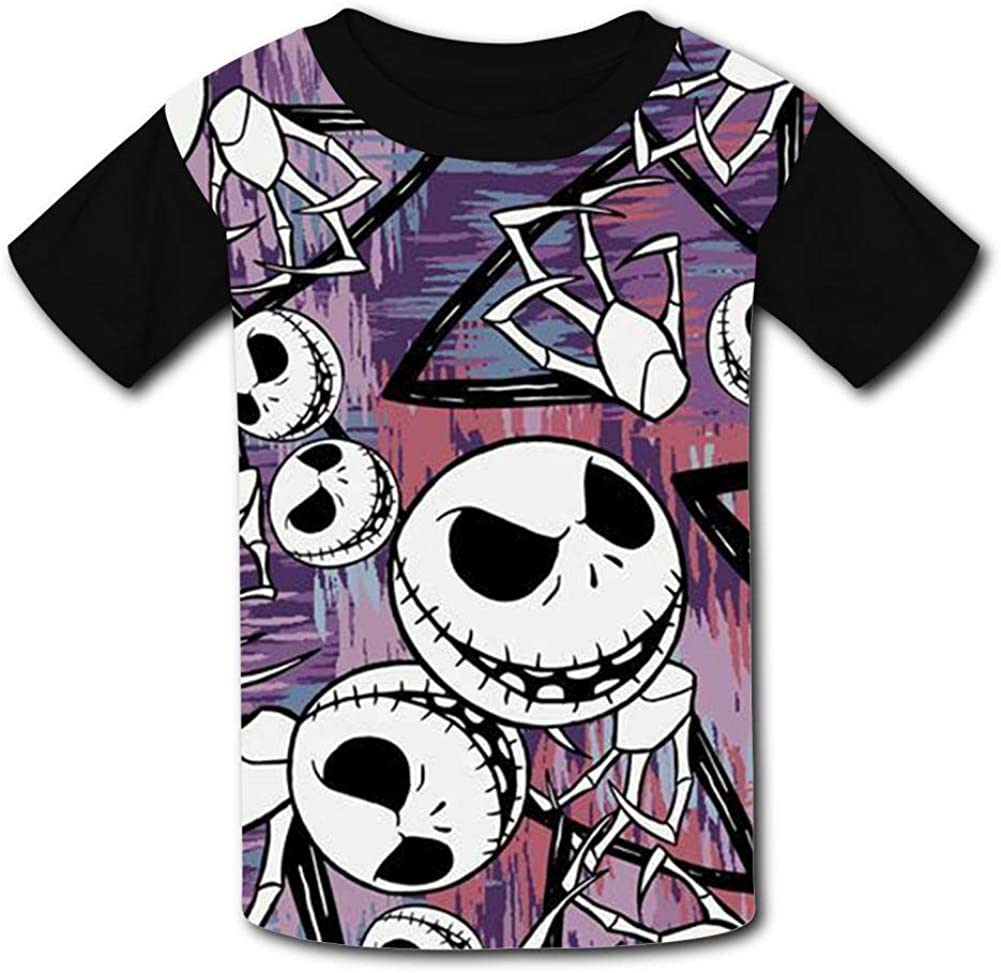 TSDDM The N-ig-hTma-re Before Christmas Boy Short Sleeve T-Shirt Childrens Cool Casual Shirt 3D Design