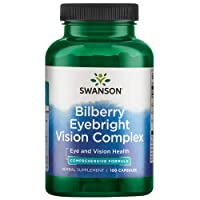 Swanson Bilberry Eyebright Vision Eye Health Complex Herbal Supplement 100 Capsules (Caps)
