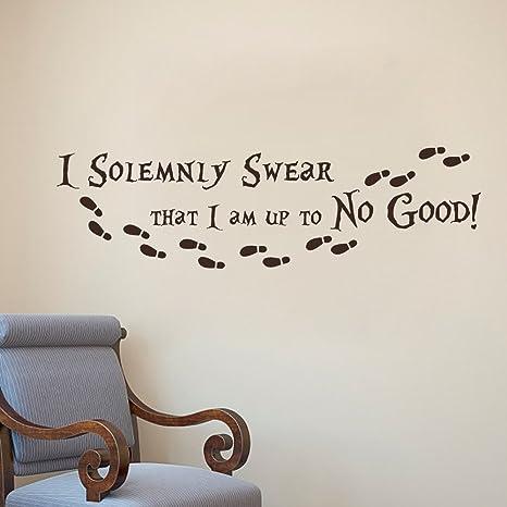 Harry Potter Wand Aufkleber Zitat I Feierlich Schwöre