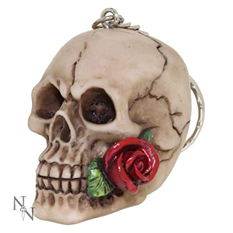 Llavero con diseño de Rosa de la Calavera Muerta de Nemesis ...