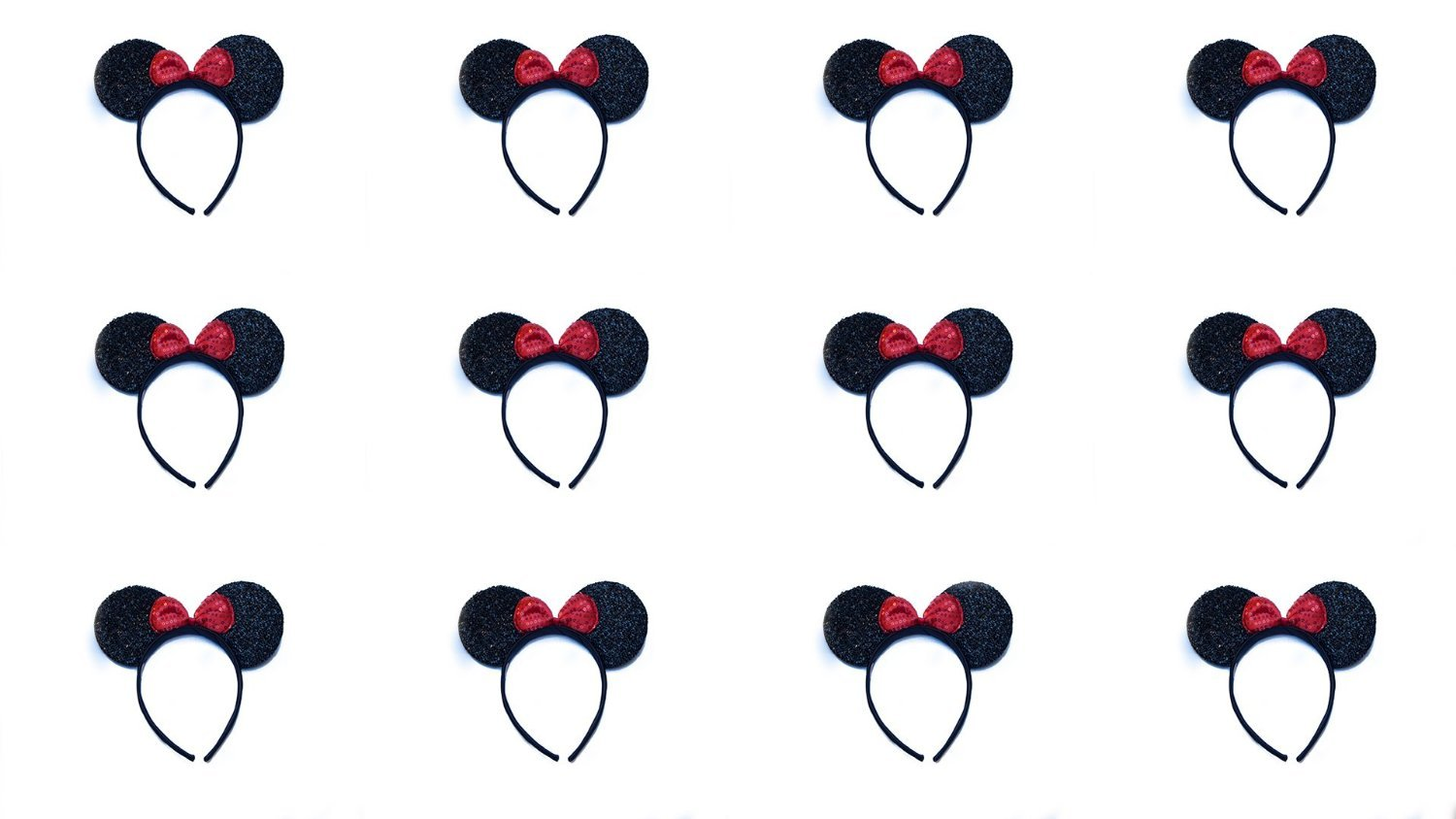 Lot of 12 by Perfect Princess SG/_B012BMGRRO/_US Minnie Mouse Ears Sparkle with Red Bow