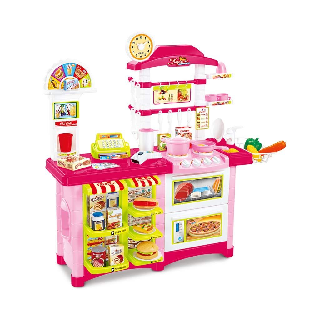 キッチン玩具 キッチン玩具 キッチンを遊ぶ 調理セット キッチンセット 脳ゲーム キッチンプレイセット ーキッチンプレイセット 3歳以上のおもちゃ 子供向けギフト (Color : Pink, Size : 86.5*33*87cm) 86.5*33*87cm Pink B07T824XQZ