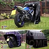 FeelGoodUK Motorbike Motorcycle Cover Garage Bike Cover Shelter (BH01)
